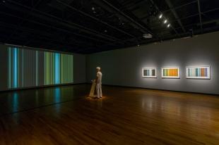 Séquences, installation vidéo interactive Composer avec l'horizon @ Maison de la culture Frontenac, Montréal, 2014 Collaboration à la programmation et au son : Sébastien Rainville-Pitt (photo : Guy L'Heureux)